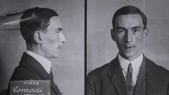 Fotografia d'investigaziun da Moritz Conradi - frontal ed en il profil