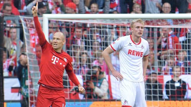 Arjen Robben bejubelt seinen Treffer