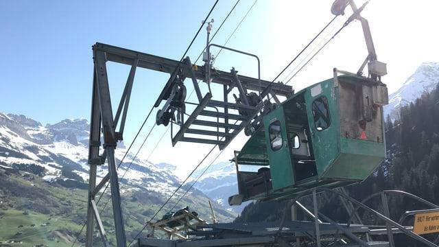 Seilbahn Witterschwanden-Eggenbergli - grüne Gondel