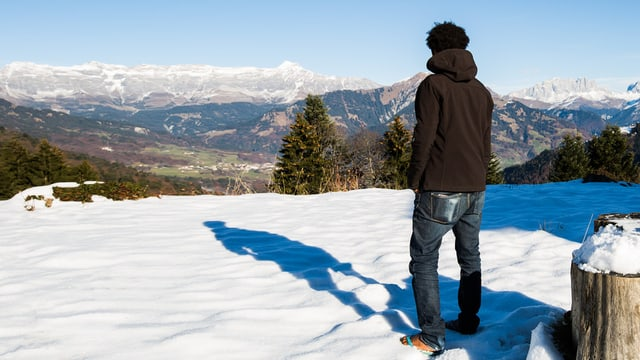 Sandalen im Schnee