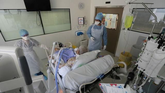 Patient auf der Intensivstation.