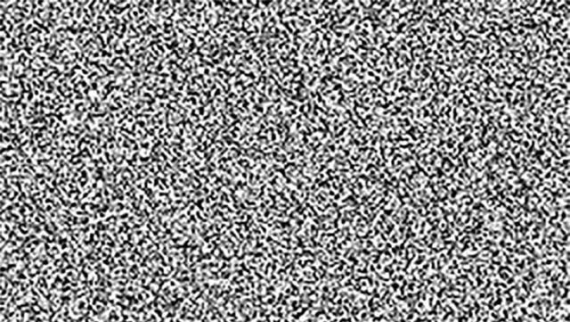 Ein Bild mit schwarzen und weissen Punkten symbolisiert weisses Rauschen.