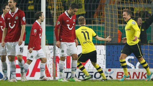 Mario Götze traf gegen Hannover doppelt.