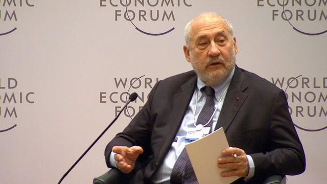 Joseph Stiglitz an der WEF-Debatte.