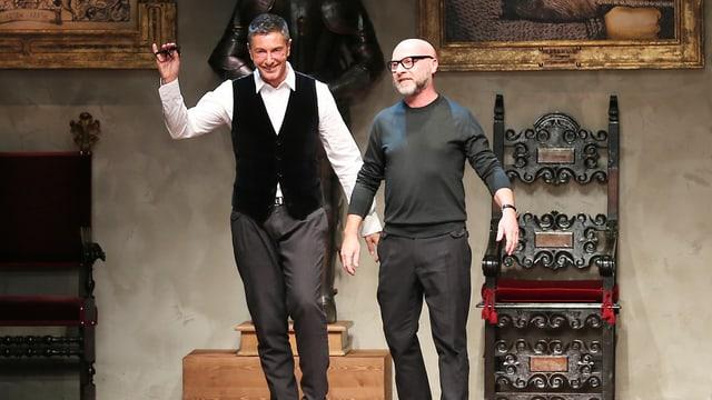 Stefano Gabbana (links) und Domenico Dolce