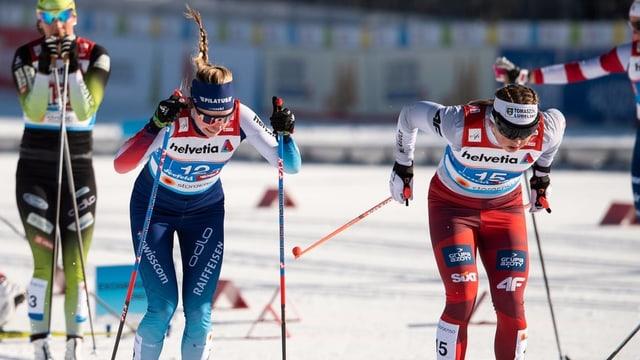 Purtret da Fähndrich durant il sprint da team.