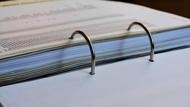 Ordner mit Dokumenten