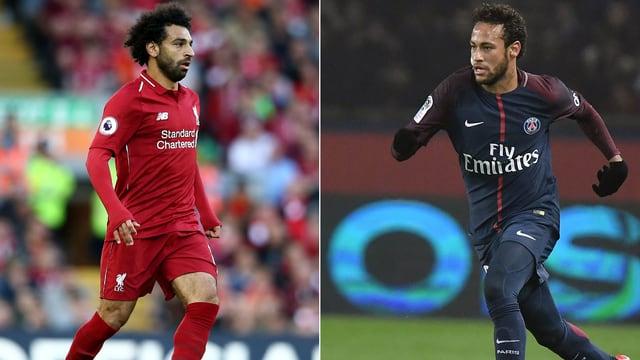 Mohamed Salah und Neymar.