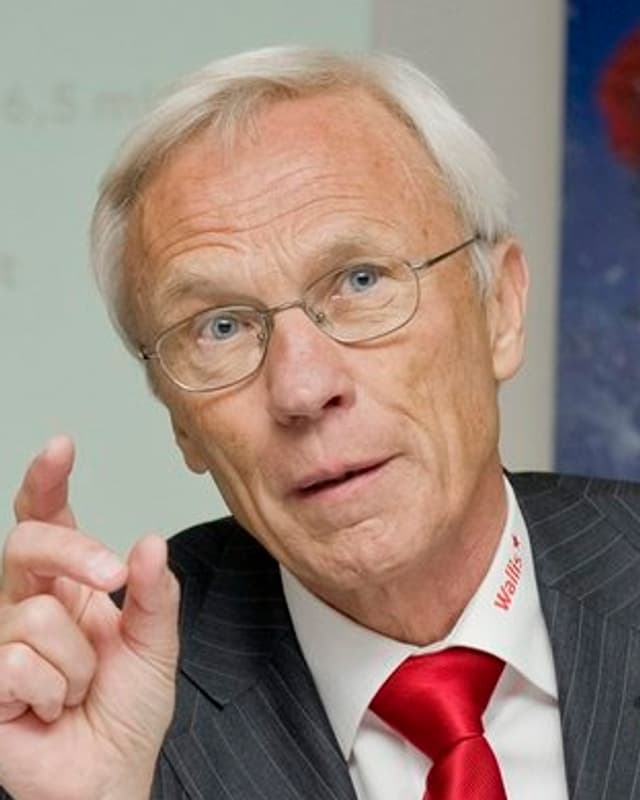 Portrait von Herbert Volken, Gomser Präfekt.