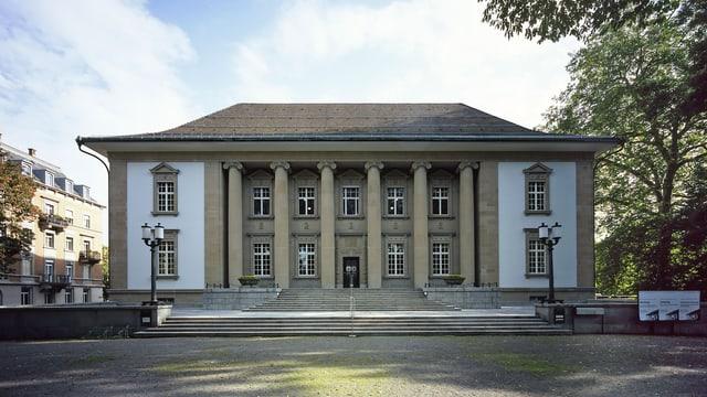 Das Völkerkundemuseum in der Frontansicht.