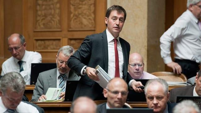 Nationalrat Rino Büchel im Nationalrat