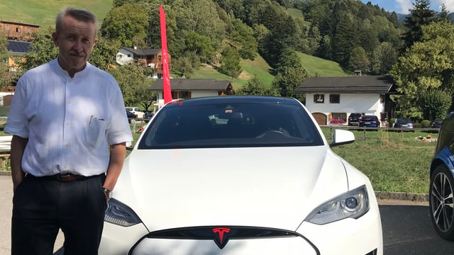 Gallus Cadonau ed in Tesla alv.