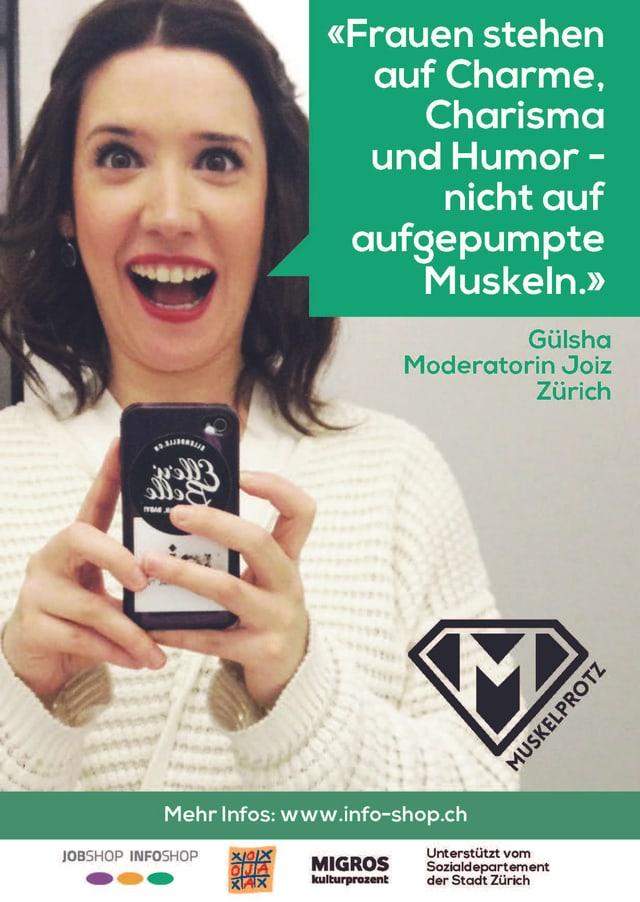 Plakat der «Muskelprotz»-Kampagne