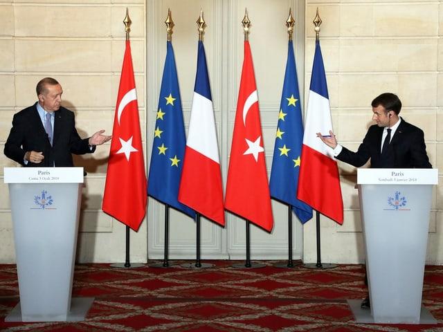 Erdogan und Macron.