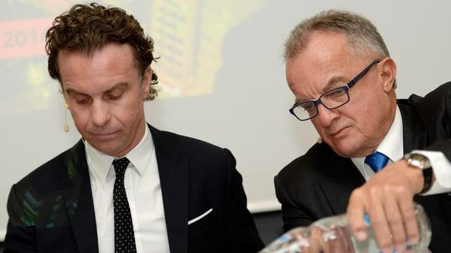 Aurelius-Vorstand Donatus Albrecht und Publigroupe-Präsident Hans-Peter Rohner