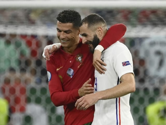 Portugals Cristiano Ronaldo und Frankreichs Karim Benzema.