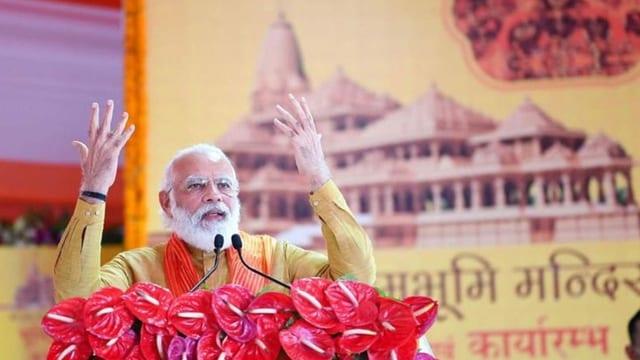 Modi spricht an Zeremonie