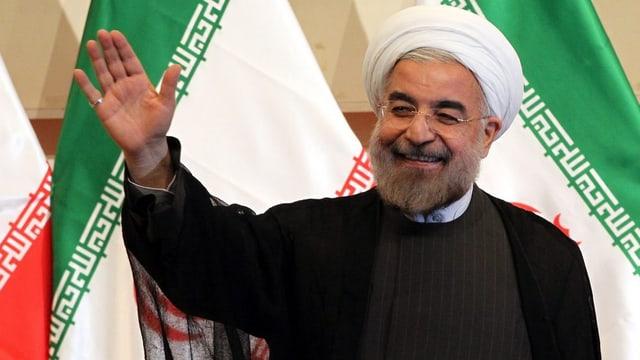 Hassan Rohani, il president actual da l'Iran suenter sia elecziun l'onn 2013.