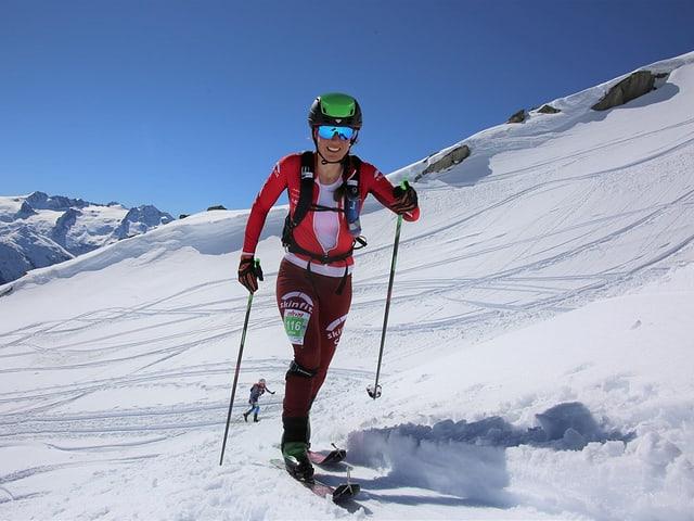 Arina Riatsch sin skis.