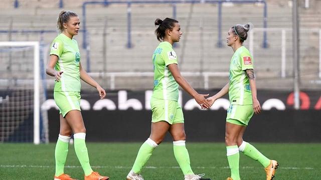Spielerinnen des VfL Wolfsburg.