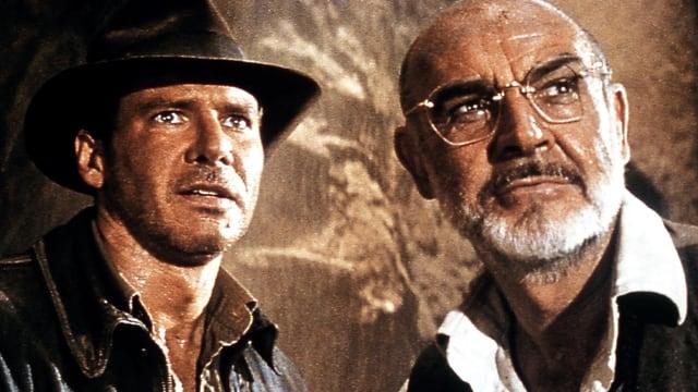Harrison Ford als Dr. Henry «Indiana» Jones Jr., Sean Connery als Professor Henry Jones Sen.