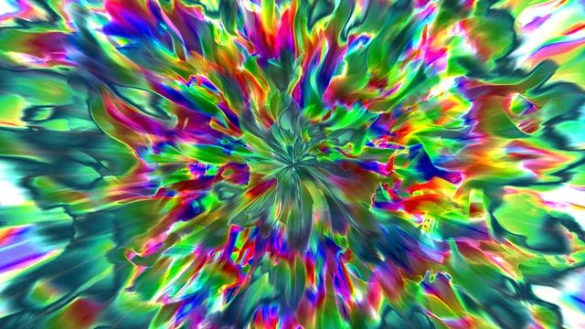 Eine computergenerierte Farbexplosion.