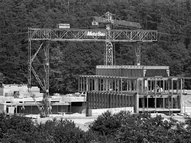 Bau der Autobahnraststätte Würenlos