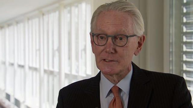 William White, Präsident des OECD-Prüfungsausschusses für Wirtschafts- und Entwicklungsfragen.