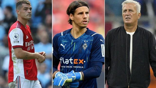 Granit Xhaka, Yann Sommer und Vladimir Petkovic.