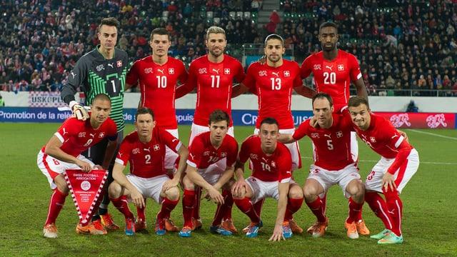 Die Schweizer Nati vor dem Testspiel gegen Kroatien am 5. März.