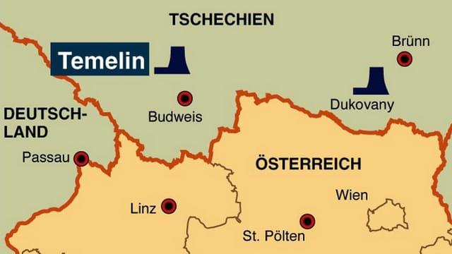 Karte Tschechiens