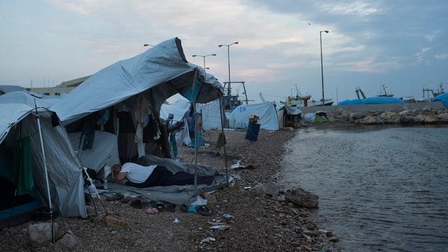 Flüchtlinge auf der griechischen Insel Chios.