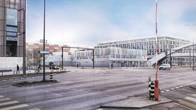 Visualisierung des geplanten Bundes-Asylzentrums in Zürich-West.