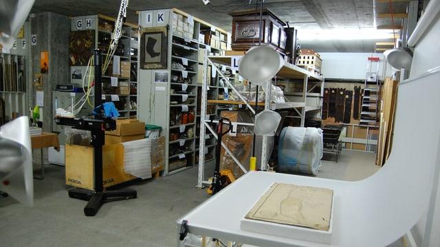 Lagerhaus des Museums.