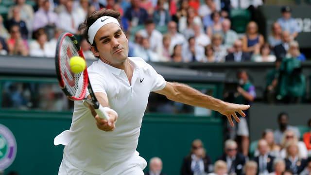 Roger Federer al Wimbledon.