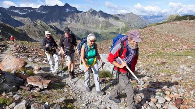 Gruppe von bergwanderern