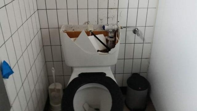 Zerstörte Toilette