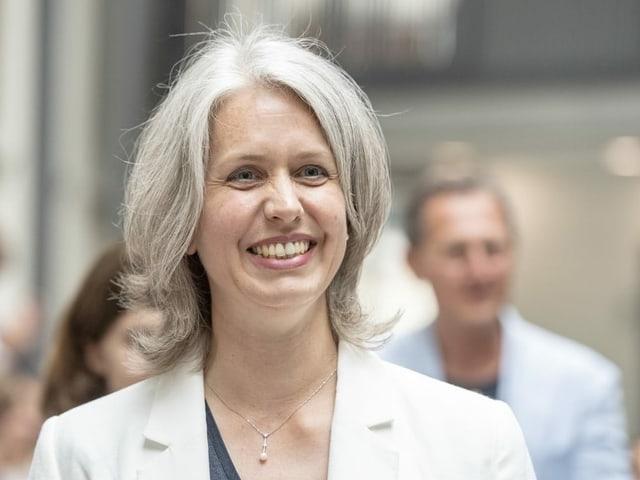 Die amtierende Finanzdirektorin Franziska Bitzi von der CVP.