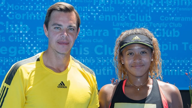 Sascha Bajin und Naomi Osaka.