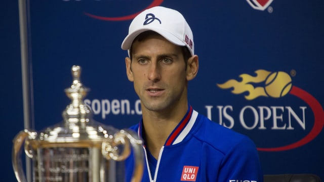 Novak Djokovic an der Pressekonferenz.