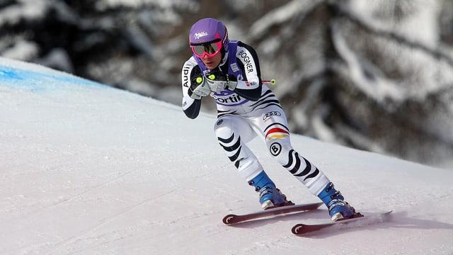 Maria Höfl-Riesch war im Training schnell unterwegs.