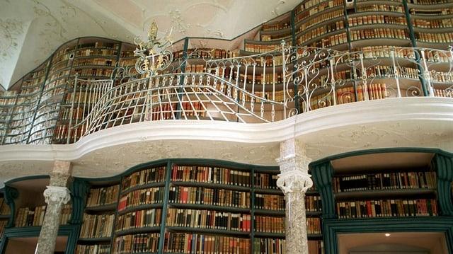 Die Bibliothek des Klosters Einsiedeln mit 230 000 Büchern.