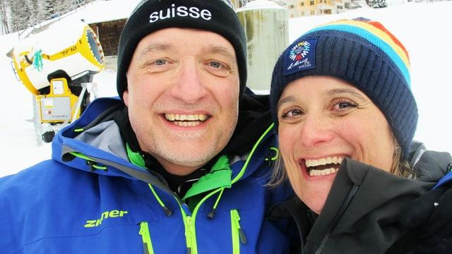 Marcel Hähni und Riccarda Trepp stehen nebeneinander.