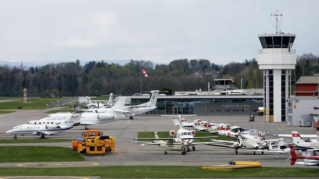 Der Flughafen Bern-Belp.