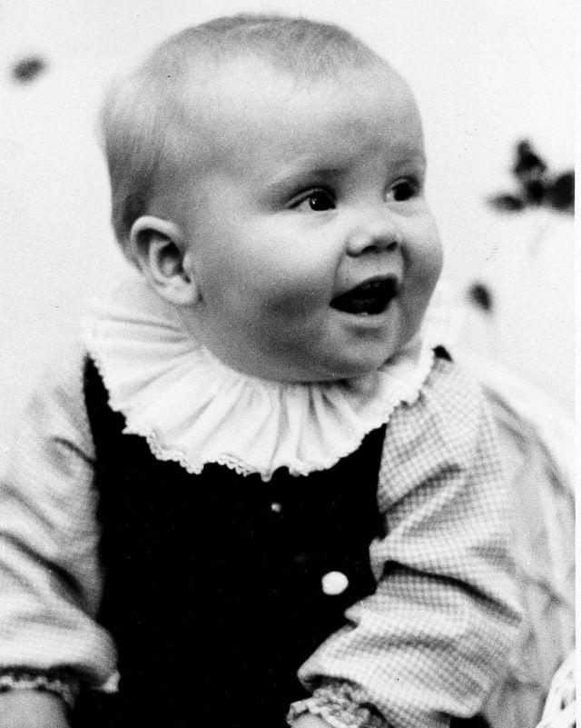 Der einjährige Willem-Alexander sw.