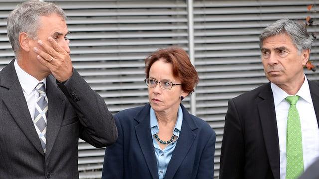 Basler Regierungsräte Guy Morin, Eva Herzog und Christoph Eymann.