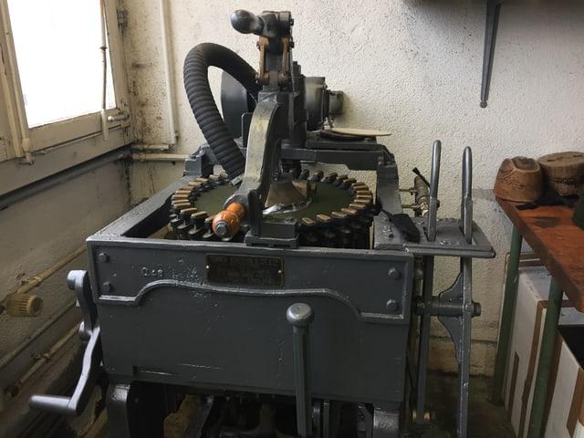 Eine alte runde Maschine