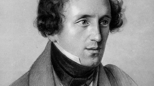 Ein Portät von Felix Mendelssohn.