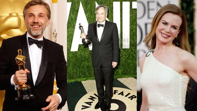 Christoph Waltz, Ang Lee, Nicole Kidman