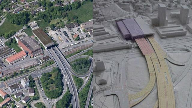 Flugaufnahme und Visualisierung